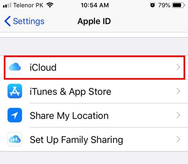 icloud storage for health app