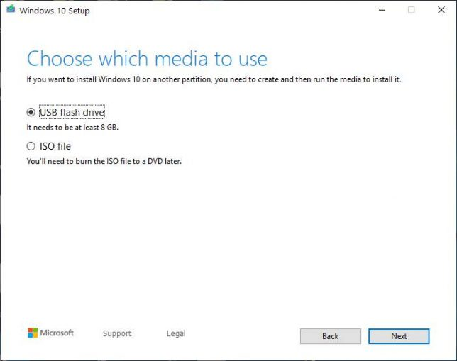 Install Win 10 In USB drive