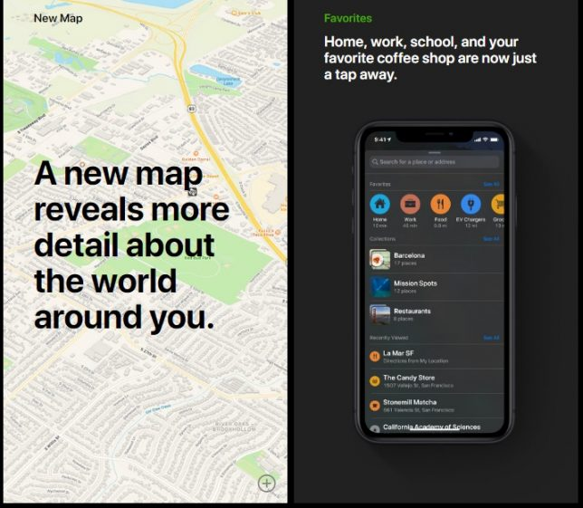 New Maps App in iOS 13