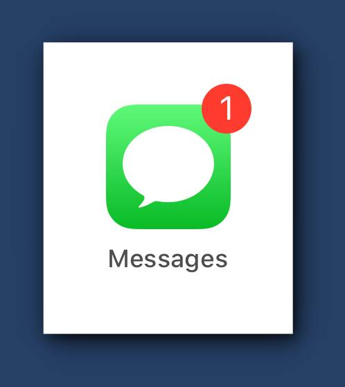 Silent SMS iMessages for a Contact